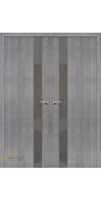 Двустворчатая дверь ПОРТА-51 grey crosscut Smoke