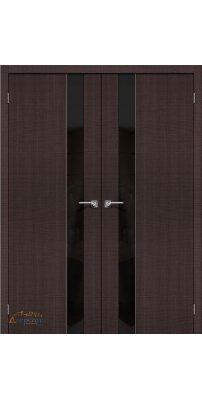 Двустворчатая дверь ПОРТА-51 wenge crosscut BS