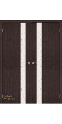 Двустворчатая дверь ПОРТА-51 wenge crosscut SA