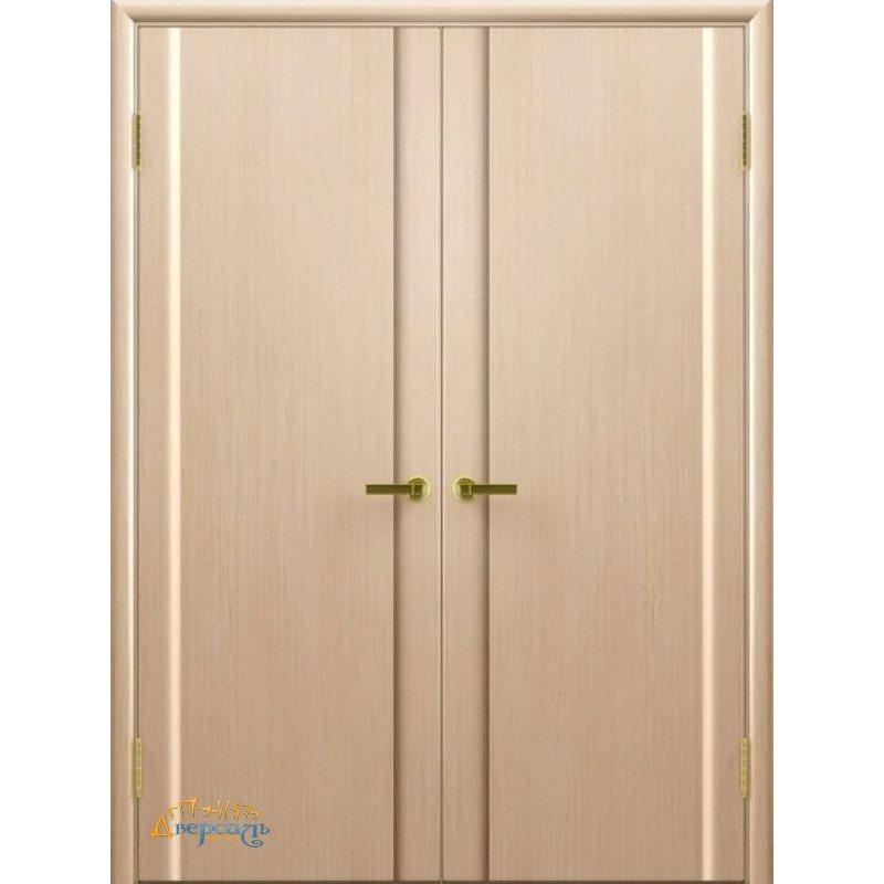 Двустворчатая дверь СИНАЙ 3 беленый дуб ПГ