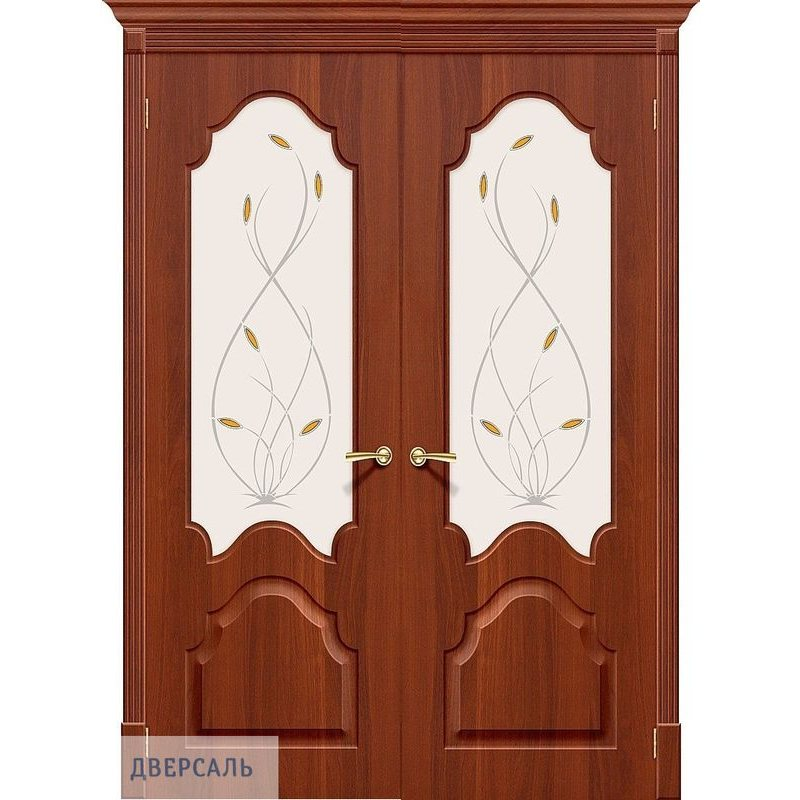 Двустворчатая дверь СКИННИ-33 итальянский орех