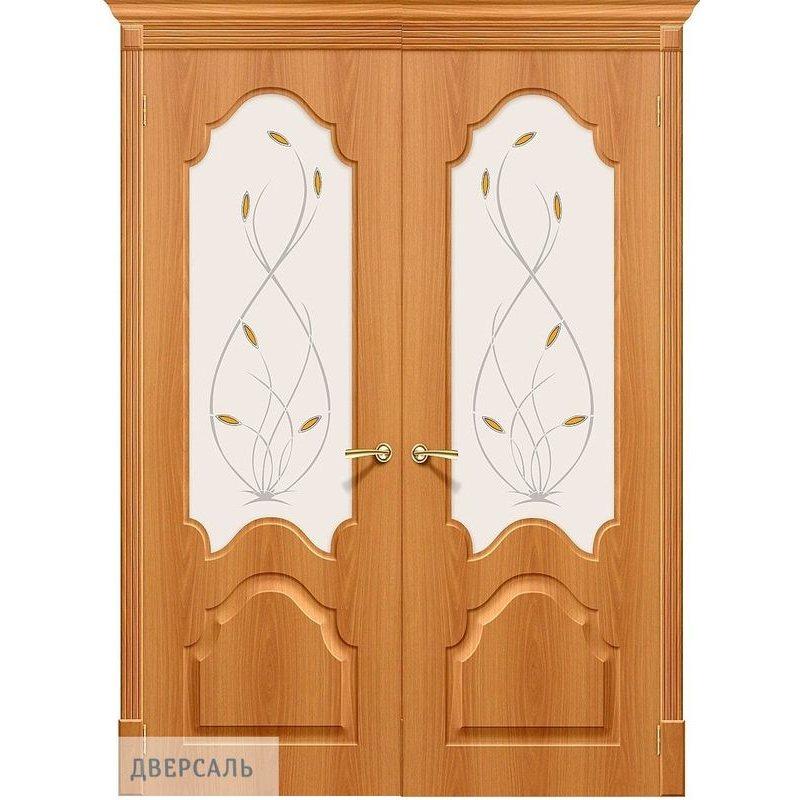 Двустворчатая дверь СКИННИ-33 миланский орех