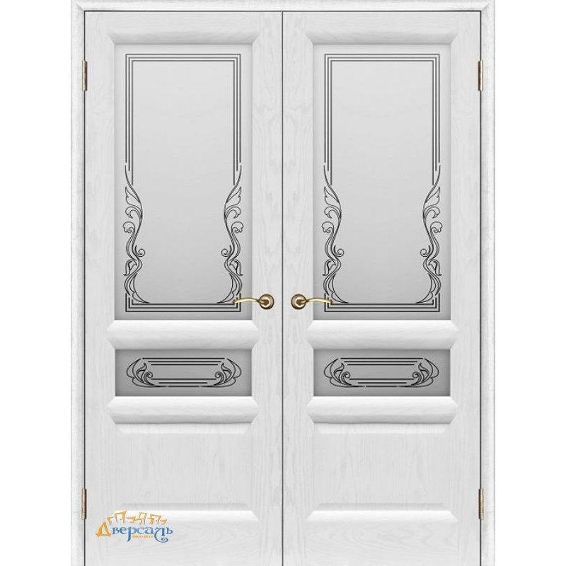 Двустворчатая дверь ВАЛЕНСИЯ 2 ясень жемчуг ПО