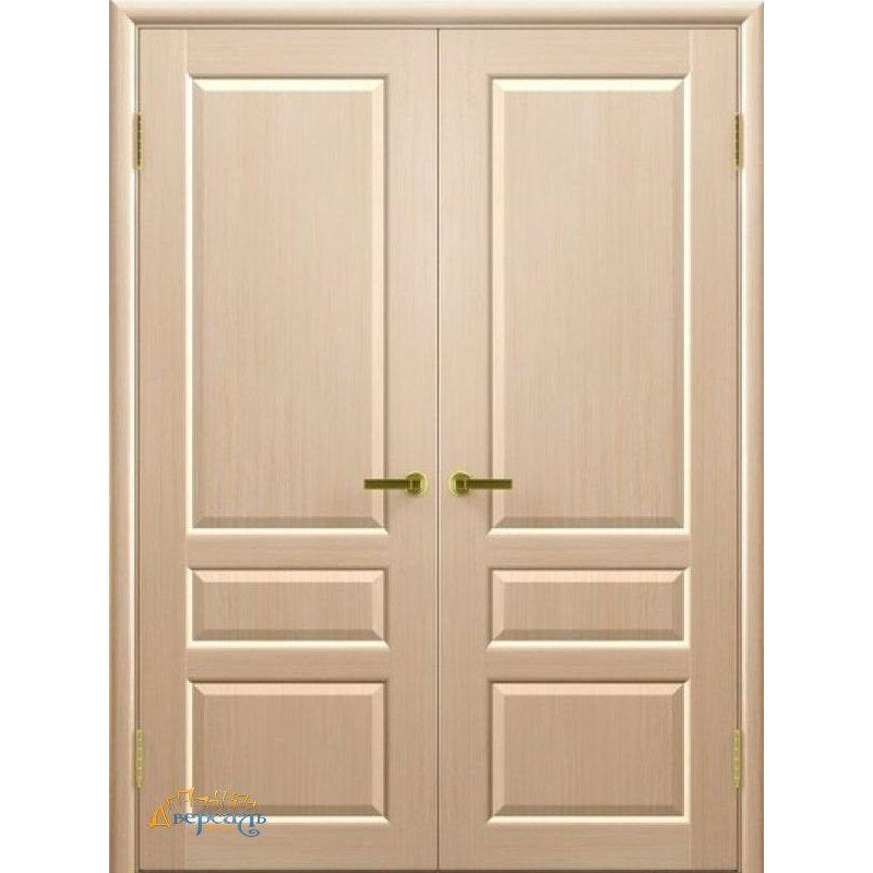 Двустворчатая дверь ВАЛЕНТИЯ 2 беленый дуб ПГ