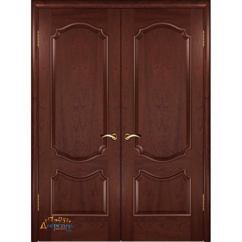 Двустворчатая дверь ВЕНЕЦИЯ красное дерево ПГ