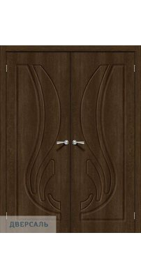 Двустворчатая дверь Лотос-1 dark barnwood
