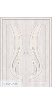 Двустворчатая дверь Лотос-2 casablanca/art glass