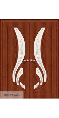 Двустворчатая дверь Лотос-2 italiano vero/art glass