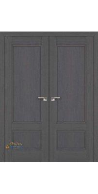 Двустворчатая дверь 100X пекан темный