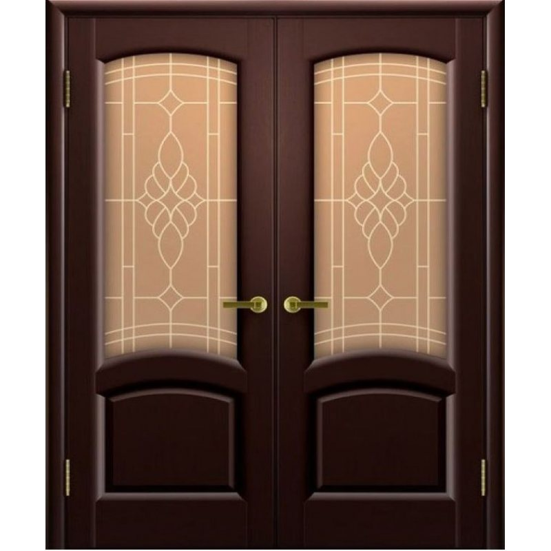Двустворчатая дверь ЛАУРА венге ПО