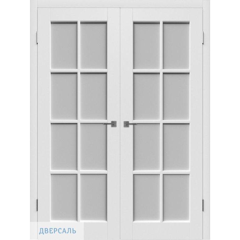 Двустворчатая дверь ПОРТА белая ПО