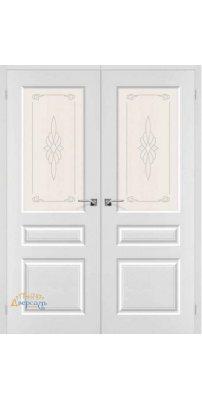 Двустворчатая дверь СКИННИ-15 белый
