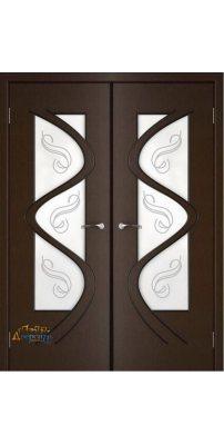 Двустворчатая дверь ВЕГА венге ПО