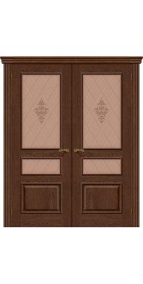 Двустворчатая дверь ВЕНА виски ПО худ.
