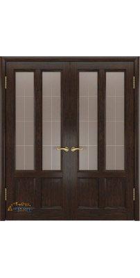 Двустворчатая дверь ТИТАН-3 мореный дуб ПО