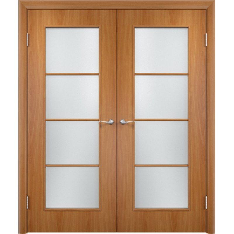 Двустворчатая дверь ВЕРОНА миланский орех ПО