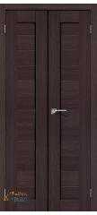 Узкая распашная дверь ПОРТА-21 wenge veralinga