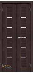 Узкая распашная дверь ПОРТА-22 wenge veralinga