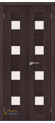 Узкая распашная дверь ПОРТА-23 wenge veralinga