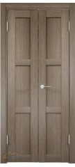 Узкая распашная дверь БАДЕН 01 дуб дымчатый ПГ