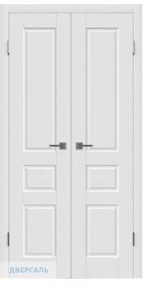 Узкая распашная дверь ЧЕСТЕР белая ПГ