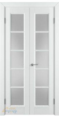 Узкая распашная дверь ГЛАНТА белая эмаль ПO