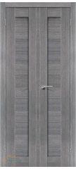 Узкая распашная дверь ПОРТА-21 grey veralinga