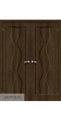 Двустворчатая дверь Вираж-1 dark barnwood