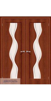 Двустворчатая дверь Вираж-2 italiano vero/art glass