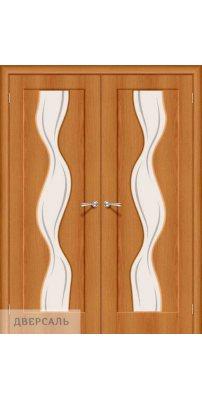 Двустворчатая дверь Вираж-2 milano vero/art glass