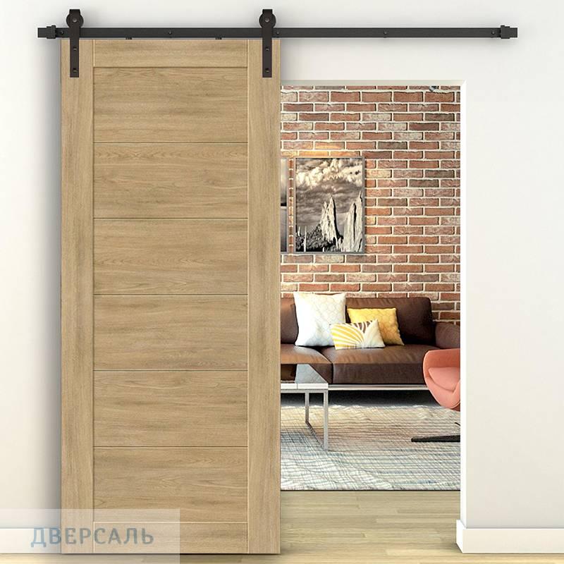 Амбарная дверь ЛЕГНО-21 organic oak