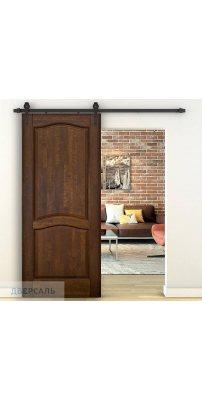Амбарная дверь Лео античный орех ПГ