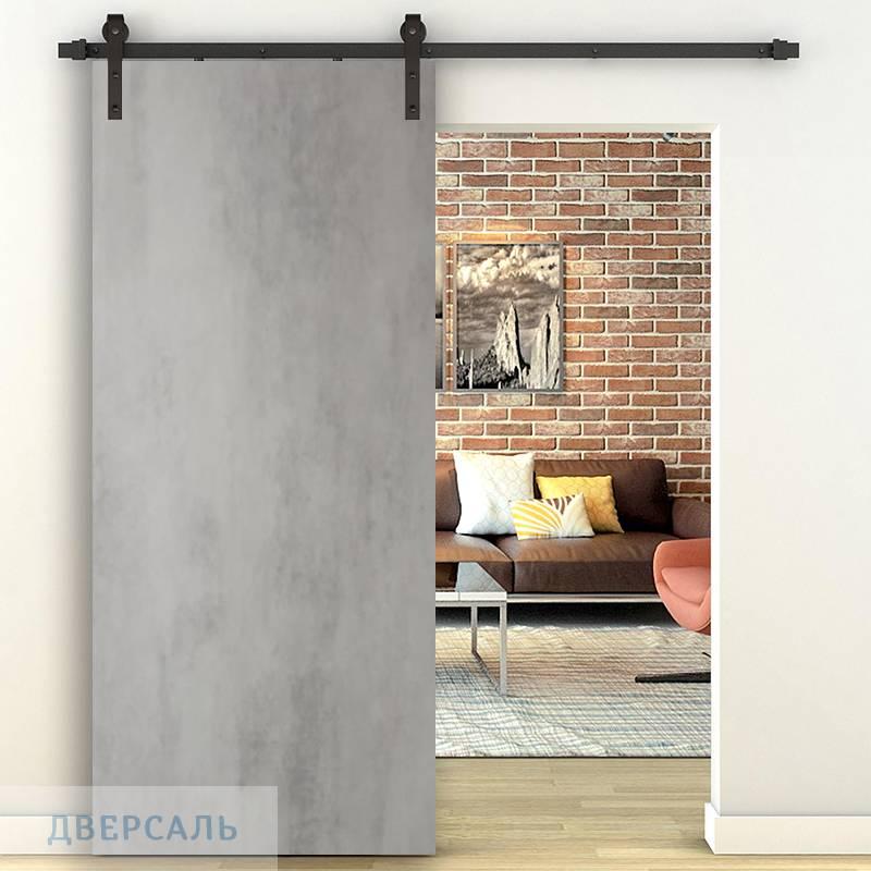 Амбарная дверь СЕВИЛЬЯ 32 бетон светлый