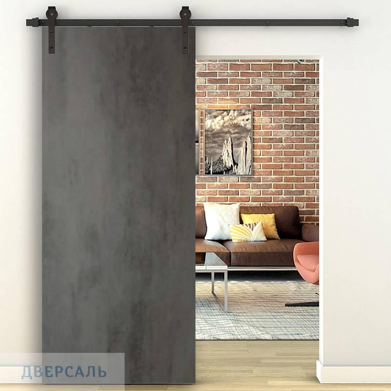 Амбарная дверь СЕВИЛЬЯ 32 бетон темный