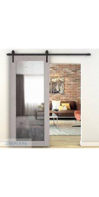 Амбарная дверь X-32 Stone Oak зеркало