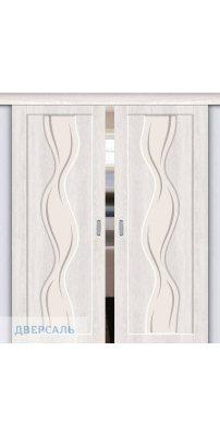 Двойная раздвижная дверь Вираж-2 casablanca/art glass