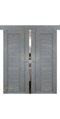 Двойная раздвижная дверь 2.10XN грувд, стекло матовое