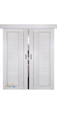 Двойная раздвижная дверь 2.10XN монблан, стекло матовое
