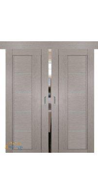 Двойная раздвижная дверь 2.10XN стоун, стекло матовое