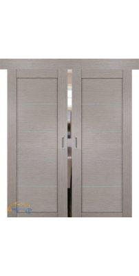 Двойная раздвижная дверь 2.11XN стоун, стекло матовое