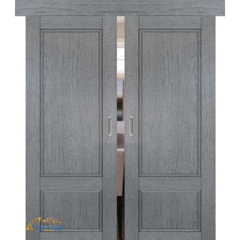 Двойная раздвижная дверь 2.30XN грувд, глухая