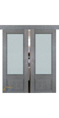 Двойная раздвижная дверь 2.31XN грувд, стекло матовое