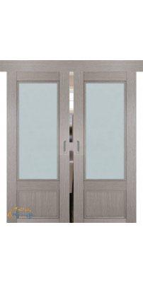 Двойная раздвижная дверь 2.31XN стоун, стекло матовое