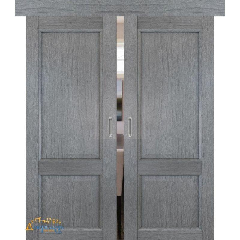Двойная раздвижная дверь 2.41XN грувд, глухая