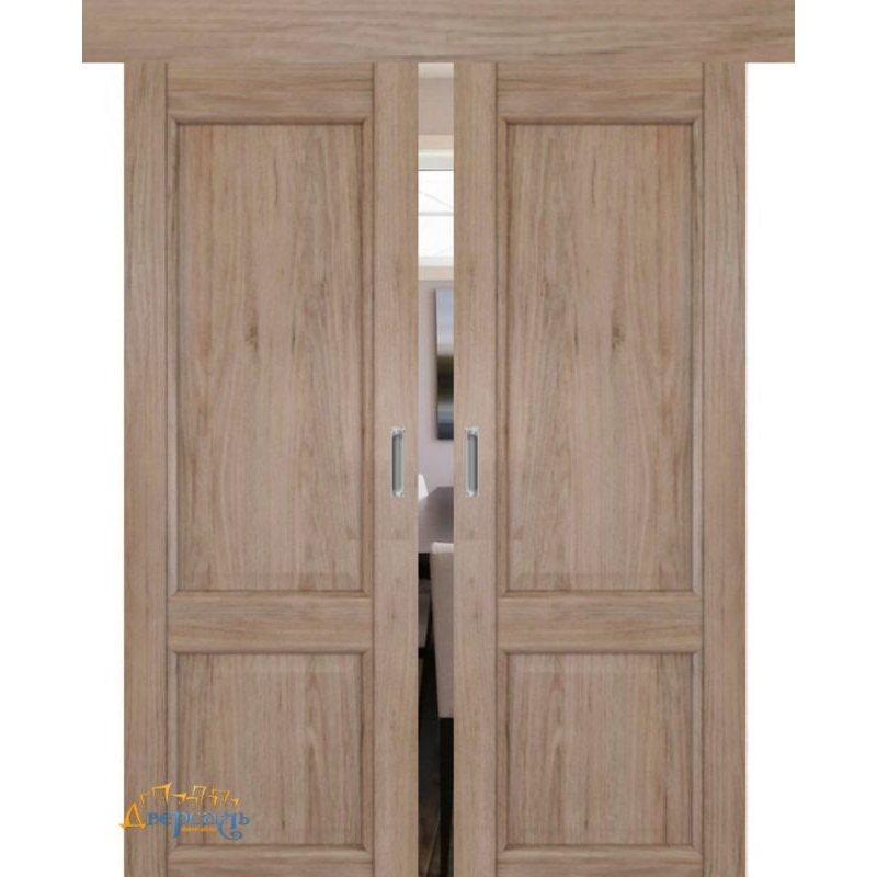 Двойная раздвижная дверь 2.41XN солинас светлый, глухая