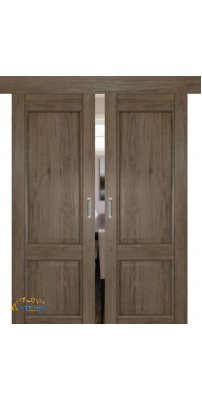 Двойная раздвижная дверь 2.41XN солинас темный, глухая