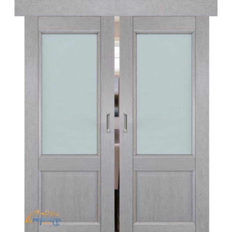 Двойная раздвижная дверь 2.42XN монблан, стекло матовое