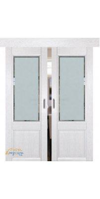Двойная раздвижная дверь 2.42XN монблан, стекло square матовое