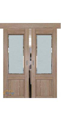 Двойная раздвижная дверь 2.42XN солинас светлый, стекло square