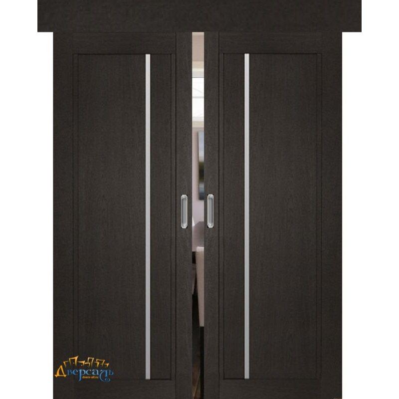 Двойная раздвижная дверь 2.70XN даркбраун, стекло матовое